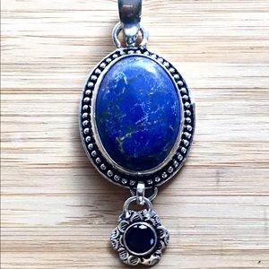 Blue Lapis Lazuli Gemstone Pendant Necklace
